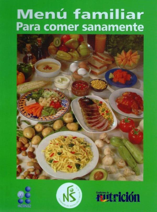 menu familiar para comer sanamente